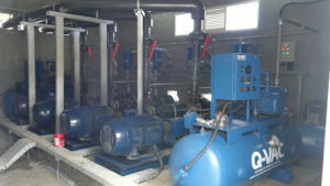 Desalination plant pump priming