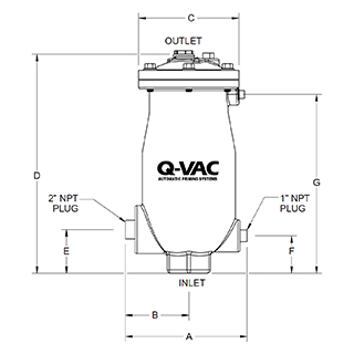 Vacuum Priming Valve Drawing