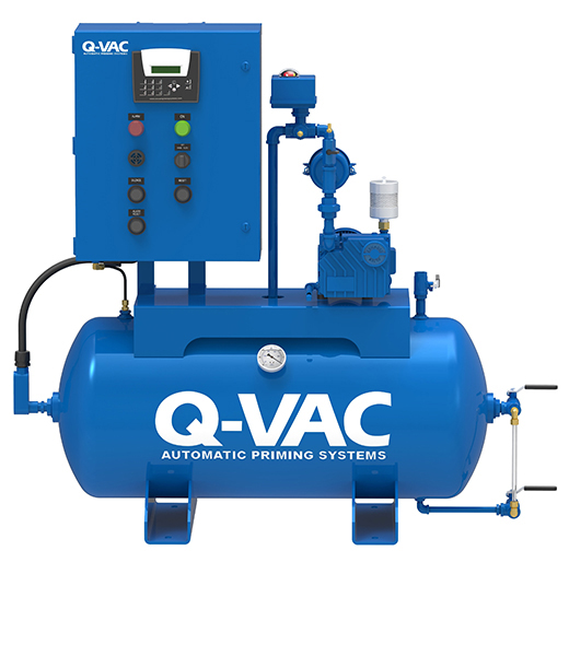 Simplex Oil Lubricated Rotary Vane Priming Systems Q VAC